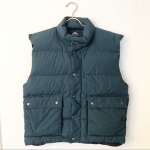 WOODLAKE Down Fill Dark Green Puffer Vest Large